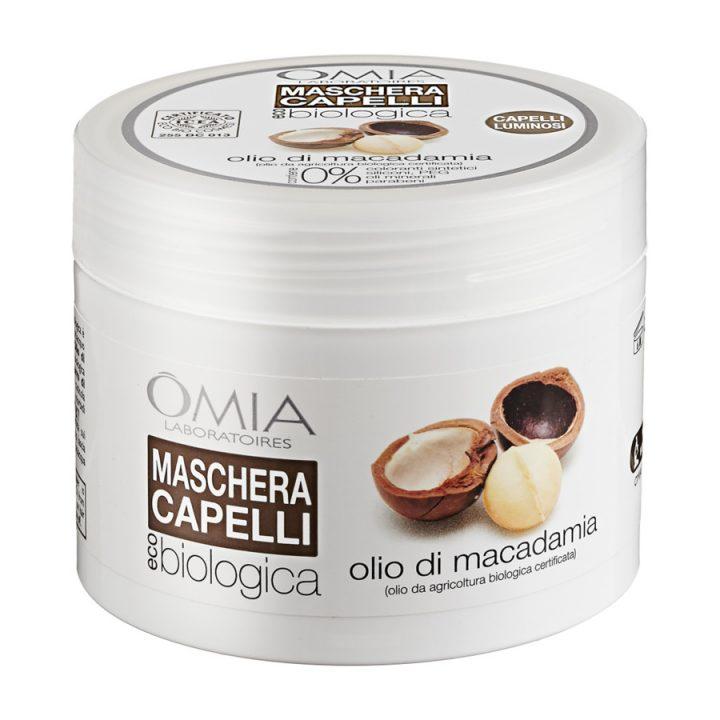 maschera capelli omia olio di macadamia